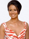 Melanie Sykes' honey-coloured hue