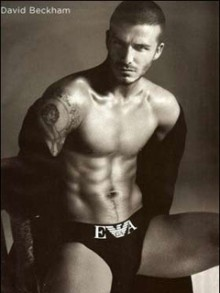 David Beckham has been named the Sexiest Man of 2008 - by a gay magazine.
