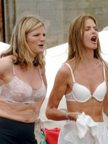 Trinny and Susannah strip naked to celebrate the British