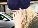 Peaches Geldof shows off her wedding ring