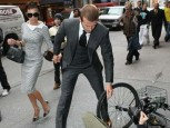 David Beckham | David Beckham helps lady up | Now magazine