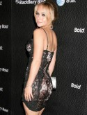 Hayden Panettiere does black lace