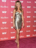 Jennifer Aniston shines in metallic 