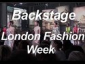 Backstage at London Fashion Week