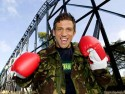 Alex Reid tests Alton Towers' new ride Th13teen