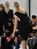 London Fashion Week models fall off their heels!