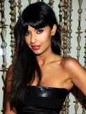 Jameela Jamil's sleek hair