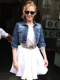 Kylie Minogue turns it up in Topshop