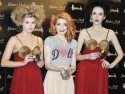 Nicola Roberts relaunches make-up range in London