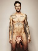 Adam Levine strips off for cancer charity