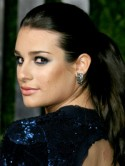 Lea Michele's denim eyes