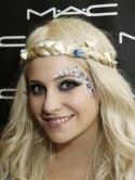 EXCLUSIVE Pixie Lott rocks face paint at the IOW Festival