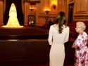 Kate Middleton enjoys a private viewing of her Royal Wedding dress with the Queen