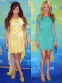 Demi Lovato and Cat Deeley's little lace dresses