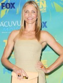 Cameron Diaz's nude nails at Teen Choice Awards