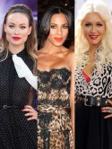 Christina Aguilera, Olivia Wilde and Rochelle Wiseman's flirtatious lips