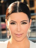 Kim Kardashian's metallic eyes