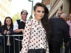 Cher Lloyd promotes hot new single With Ur Love at Radio 1 studios in London