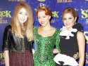 Cheryl Cole and Nicola Roberts support Girls Aloud bandmate Kimberley Walsh at her Shrek debut