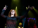 Katy B rocks bright red hair for gig at London's Shepherds Bush Empire