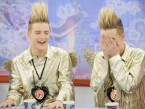 Twin trouble! X Factor stars Jedward let loose on TV
