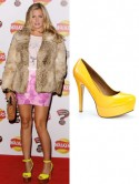 Made In Chelsea star Caggie Dunlop's hot and sunny platform heels