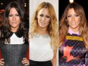 Celebrity hair: Caroline Flack - dark to blonde and dip-dye