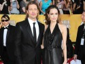 Angelina Jolie and Brad Pitt attend the Screen Actors Guild Awards 2012