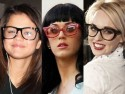 Celebrities wearing glasses