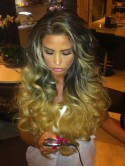 SHOCK PICTURE Katie Price shows off her crazy new hair extensions