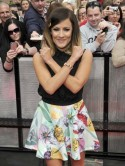 Caroline Flack shows off new dip-dyed hair at X Factor auditions in Liverpool