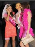 The Saturdays' Una Healy and Rochelle Wiseman dress up for joint hen party in London