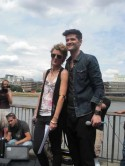 The Voice's Danny O'Donoghue and Bo Bruce busk outside London's Tate Modern