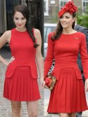 Tulisa first wore red Alexander McQueen dress Kate Middleton chose for Queen's Thames Diamond Jubilee Pageant
