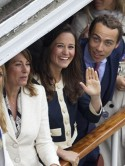 'Banned' Pippa joins 'scarlet woman' Kate Middleton for Queen's celebrations but keeps low profile