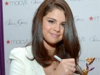 Selena Gomez launches latest perfume in New York in cute white shorts