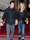 Jennifer Aniston celebrates with birthday boy Justin Theroux but bans his holiday in Hawaii