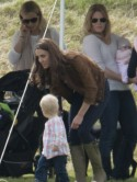 Kate Middleton bonds with baby Savannah while Prince William plays polo
