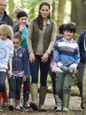 Kate Middleton wears �150 wellington boots to go camping