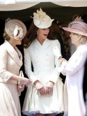 Kate Middleton is a vision in white McQueen dress at Order Of The Garter service with Royal family