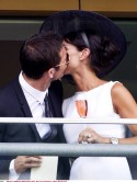 Loved-up Frank Lampard and Christine Bleakley share kiss at Royal Ascot