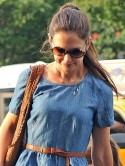 Katie Holmes looks relieved in New York after Tom Cruise divorce settlement is announced