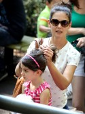 Katie Holmes and Suri enjoy day at the zoo after Tom Cruise divorce settlement is announced