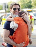 CUTE PICS! Suri Cruise gives dad Tom Cruise a big hug as they reunite following Katie Holmes divorce settlement