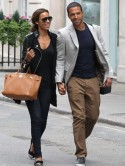 The Saturdays' Rochelle Wiseman steps out in London with JLS star husband Marvin Humes