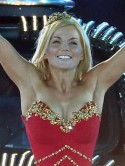 Geri Halliwell's Olympic bronze make-up secrets