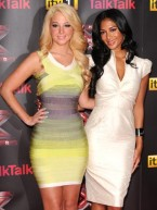Tulisa and Nicole Scherzinger dress up to launch new X Factor series in London without Gary Barlow