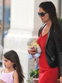 Katie Holmes and daughter Suri Cruise enjoy afternoon tea and a movie in New York