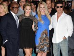 L.A. Reid Demi Lovato Britney Spears and Simon Cowell | The X Factor Season 2 premiere | Pictures | Photos | new | Celebrity News
