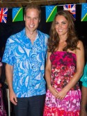 Kate Middleton wears South Pacific tropical dress on Diamond Jubilee Tour and forgets topless pictures scandal